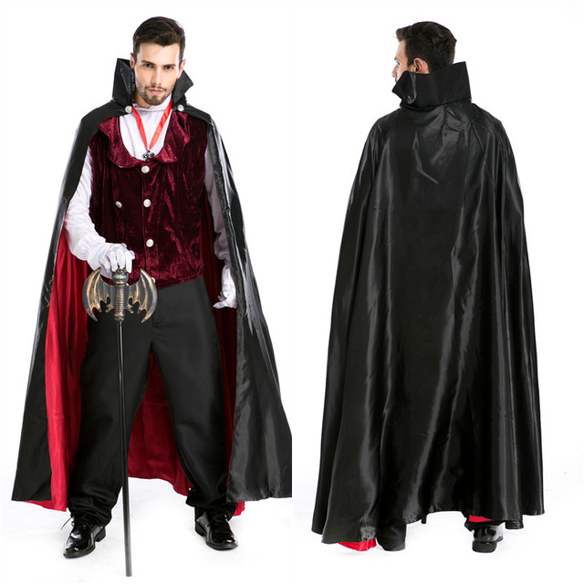 e1abe24e0026 High Quality Gothic Vampire Costume Adult Halloween Party Dracula Vampire  Costumes for Men