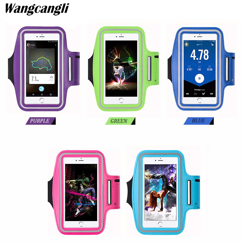 wangcangli Gym Sports Running Armband for iPhone 8 7 4 5 5S 5C SE 6 6s 8 Plus Phone Case Cover Holder Armband Case for iPhone 8 armband for iphone 6