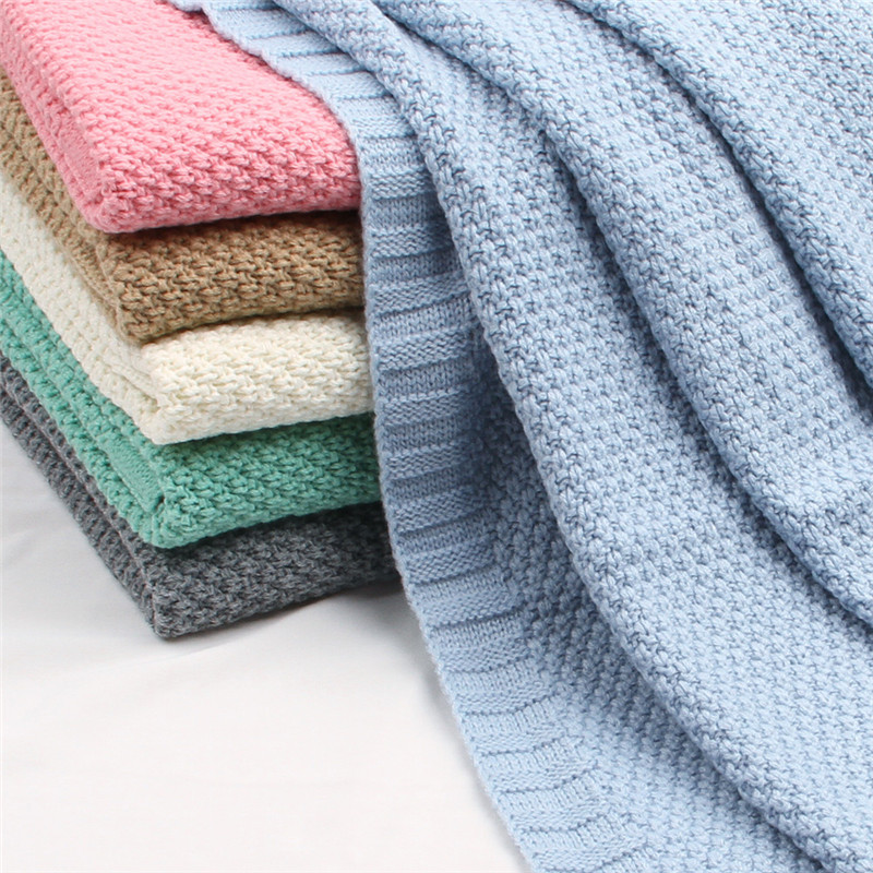 Newborn Swaddle Wrap Blankets Baby Blanket Knitted Super Soft Toddler Infant Bedding Quilt For Bed Sofa Basket Stroller Blankets
