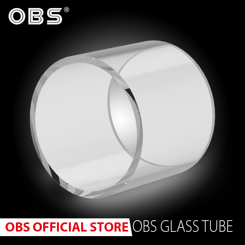 3pcs 100% Original  Replacement Pyrex Glass Tube For OBS Atomizer Fit For Engine & Crius II Single Coil & Cube