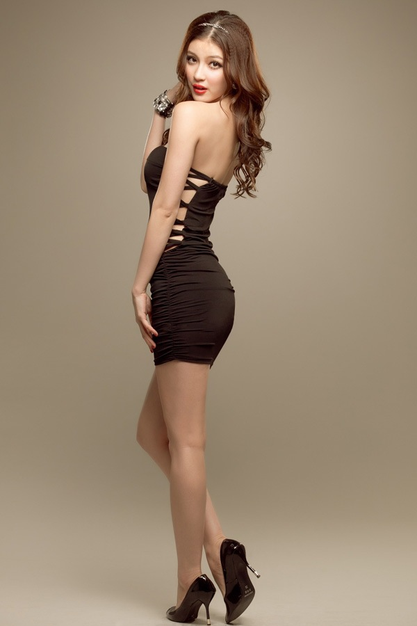 Women sexy club wear strapless mini dresses girls sheath ...