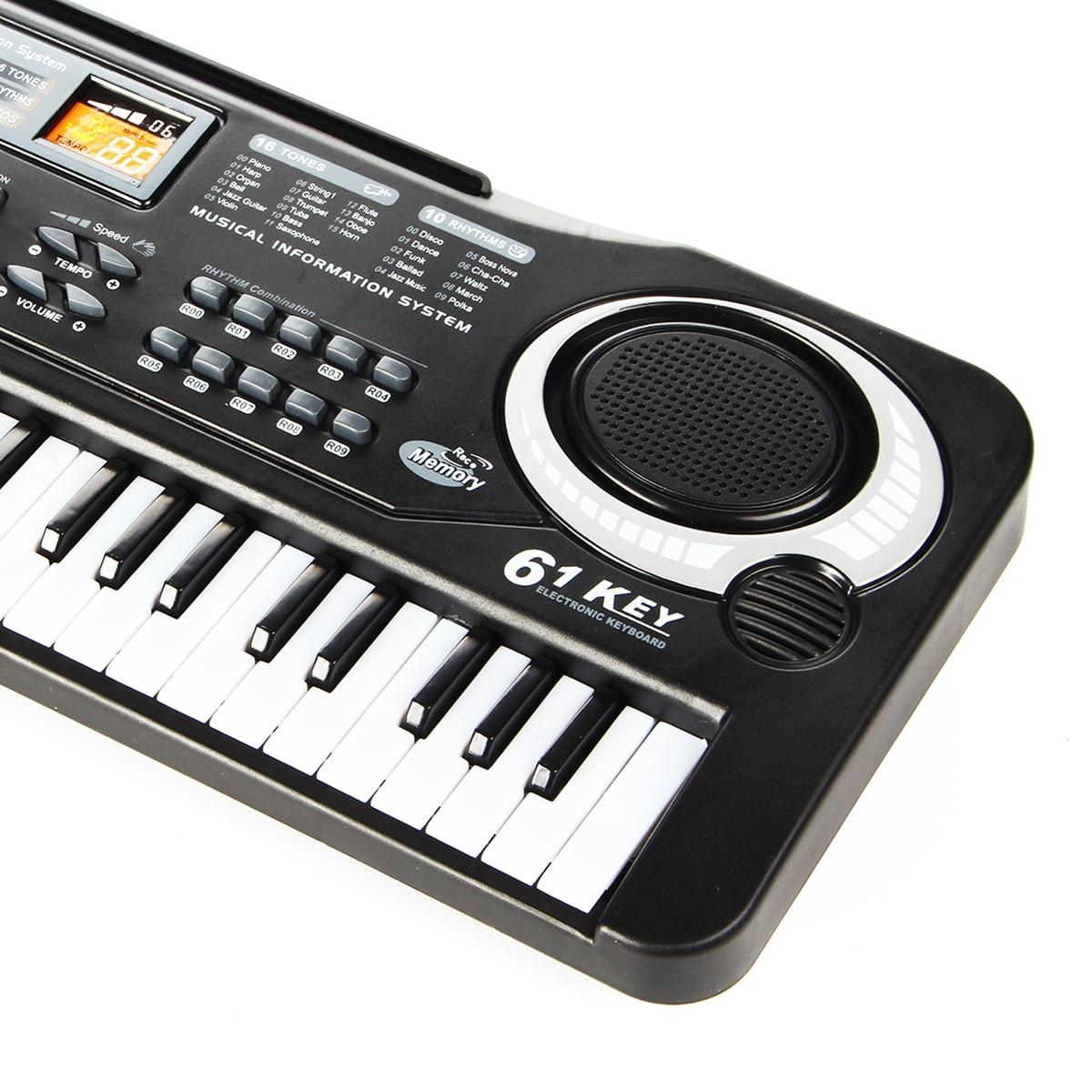SENRHY 61 Ключи цифровая клавиатура электронное пианино электрическое пианино с Зарядное устройство микрофон электронный Органы для детей кла...