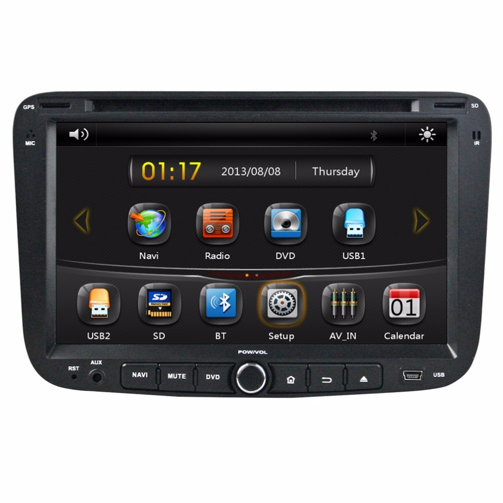 HD 2 din 7 Car dvd gps navigation for Geely Emgrand EC7 2012 With 3G Bluetooth