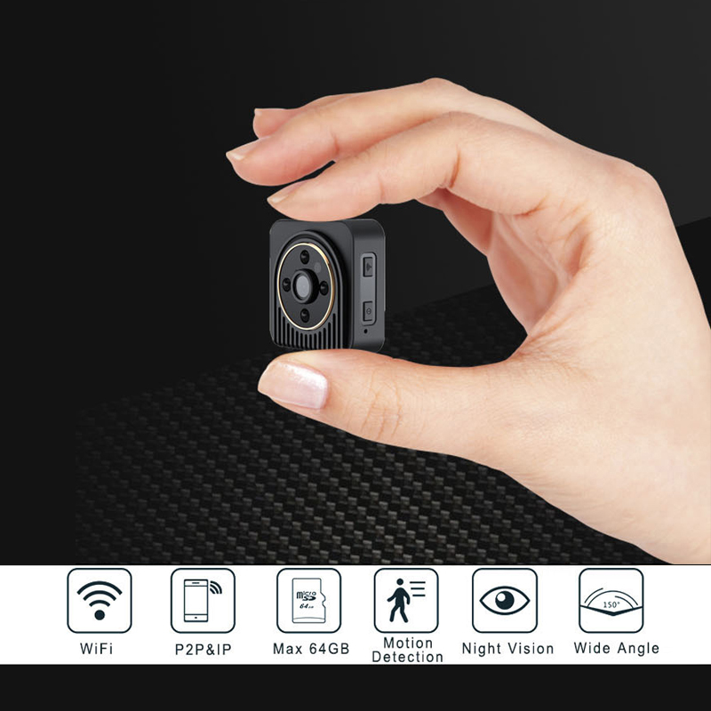 Wifi IP Mini Camera Wireless 720P HD Infrared Micro IR Night Vision Body Camera Magnetic Motion Detection Mini DV
