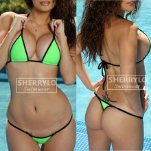 Bikinis Micro Bikini G-String String and Silver Rings Solid Exotic Extreme Swimming Suit for Women Swimsuit Swimwear Female extreme minimal coverage micro bikini g string mini bikinis set 2018 exotic tiny thong biquini women swimwear female swimsuit