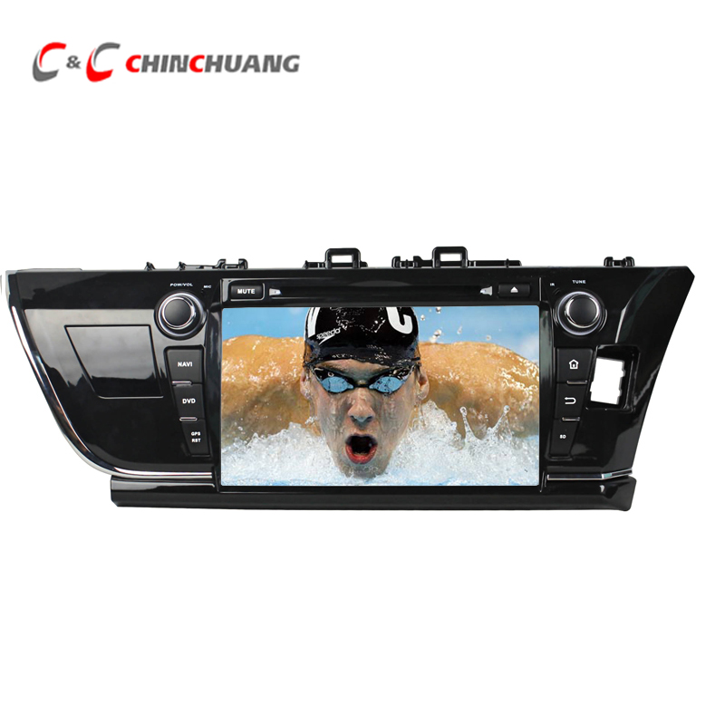 1024*600 Quad Core Android 5.1.1 Car DVD Radio GPS for Toyota Corolla 2014 with Wifi DVR SWC BT USB Mirror link