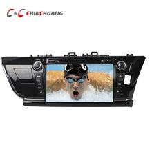 1024*600 Quad Core Android 5.1.1 Coche DVD GPS de Radio para Toyota Corolla 2014 con DVR Wifi SWC BT USB Espejo enlace
