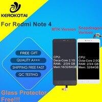 For Xiaomi Redmi Note 4 LCD Display Global Version Snapdragon 625 Touch Screen Digitizer MI Hongmi