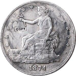 1874 CC Comércio Dólar COIN COPY|Moedas sem valor monetário|Casa e Jardim -