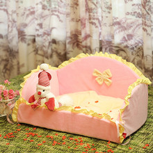 New arrival Detachable and Washable New dog house Soft dog sofa cat bed onesie pink blueComfortabl Princess Pet Bed