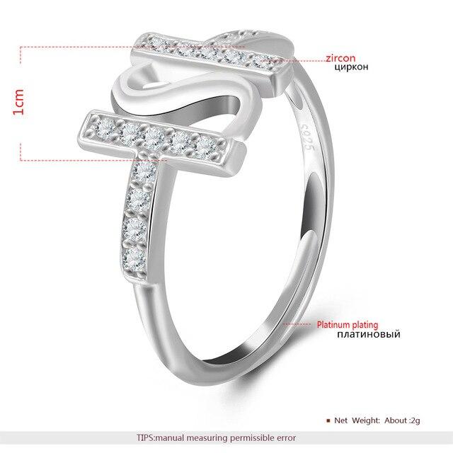 Us 1369 Romad 100 Perak 925 Surat Cincin Warna Putih Emas Rings Adjustable Wanita Ledakan Kepribadian Perhiasan Untuk Partai Hadiah Di Rings Dari