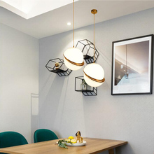 Nordic modern round balls Pendant Lights Creative Round Moon Brass Suspension lamp for Dining room Living drplight