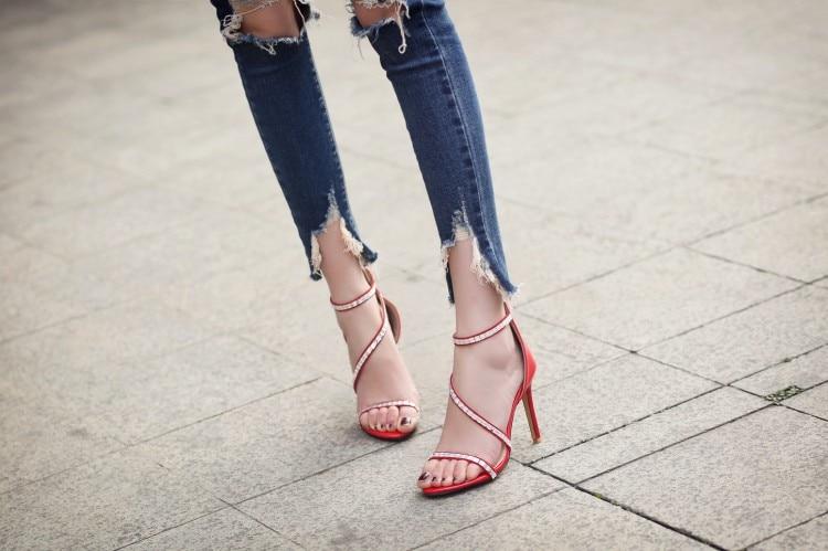 Big Size 9 10  11 12 high heels sandals women shoes woman summer ladies Fine-heeled sandalsBig Size 9 10  11 12 high heels sandals women shoes woman summer ladies Fine-heeled sandals