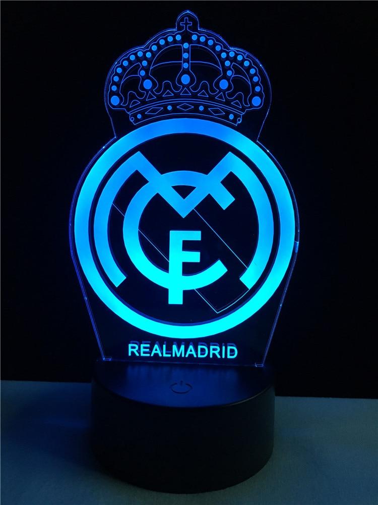 2017 Real Madrid Fcb Soccer Football 3d Led Lamp Kid Gift