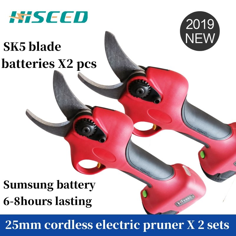 Cordless electric pruning shears battery powered hand pruners cordless li ion secateur