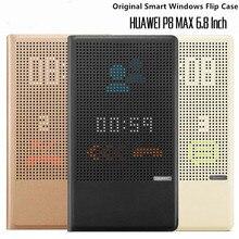 100% orijinal resmi Huawei P8 Max renkli standı Windows görünüm akıllı Flip Case kapak