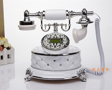 The new European palace antique telephone landline phone home White Diamond