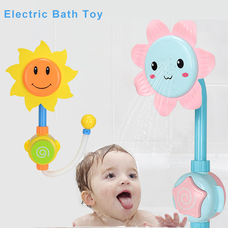 Electric Baby Water Game Bath Toy Bathing Tub Sunflower