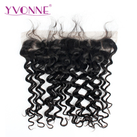 YVONNE Italian Curly Brazilian Virgin Hair Lace Frontal 13x4 Natural Color 100 Human Hair Products Free