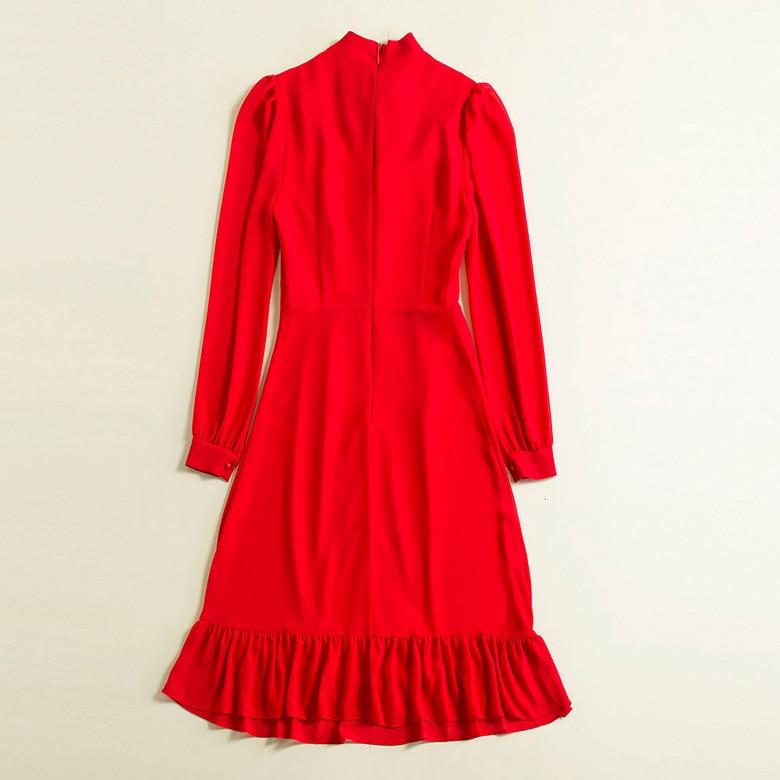 Design Partie De Femmes Ws12569 Marque Printemps Robe Qualité Mode Luxe 2019 Haute Nouvelles Style Européenne PZ7cq