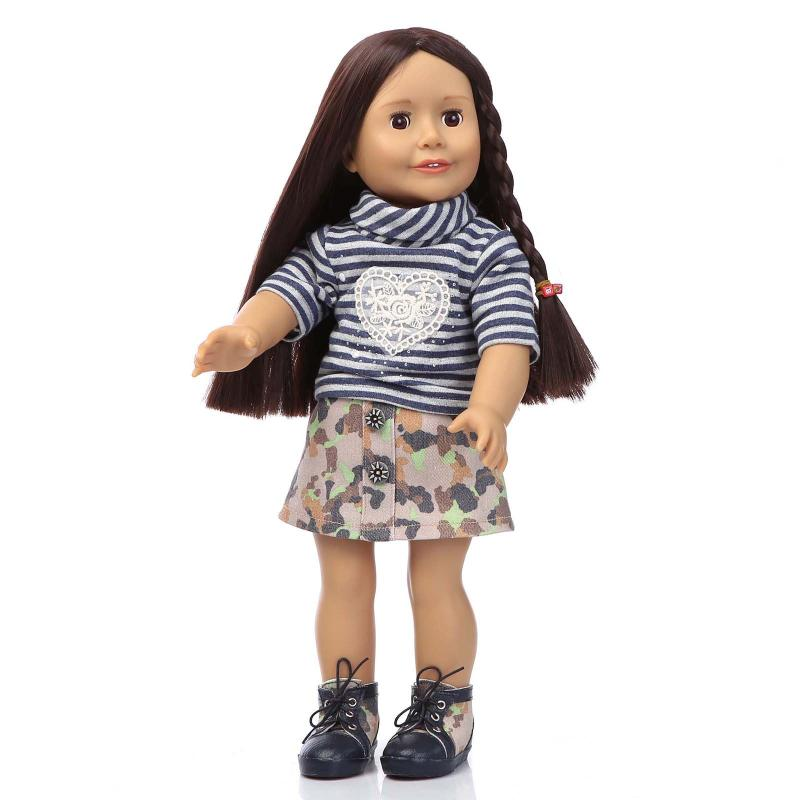 Fashion American Girl Dolls for Girls Children's Gift,New Style 18'' Girls Doll Princess Doll with Clothes and Shoes
