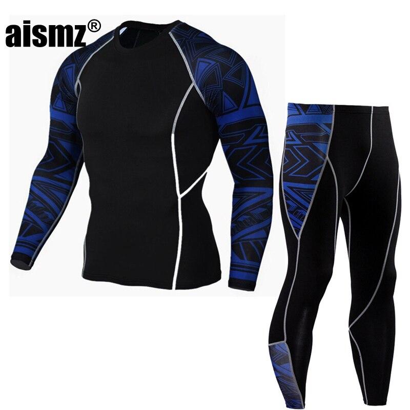 Термобелье Aismz мужское, эластичное, теплое, флисовое, воздухопроницаемое, с длинным рукавом