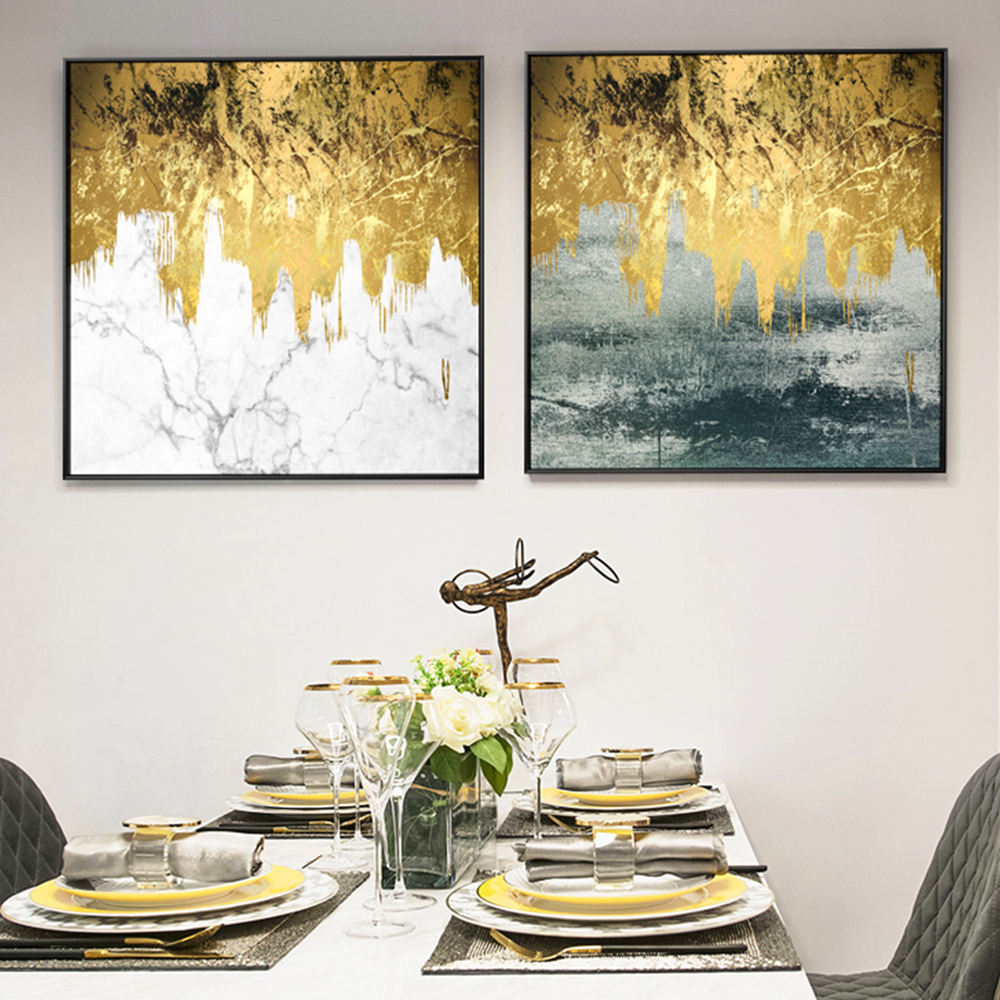 WANGART Gloden Years Abstract Oil Painting Nordic Poster Print on Canvas Wall Picture for LIving Room Pop Art Home Decoration