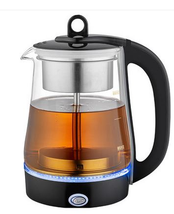 Electric kettle Black tea brewed ware glass electric full automatic heat preservation pot steam set Overheat Protection electric kettle brew tea ware black pu er glass electric thermal insulation steam overheat protection