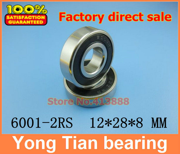 20pcs/lot High quality deep groove ball bearing free shipping quality 6001 2RS 6001RS 6001-2RSH 6001-2RS1 180101 12*28*8 mm 1pcs 6001 2rs 6001rs 6001 rs 12 28 8mm hybrid ceramic ball deep groove ball bearing 12x28x8mm for bicycle part