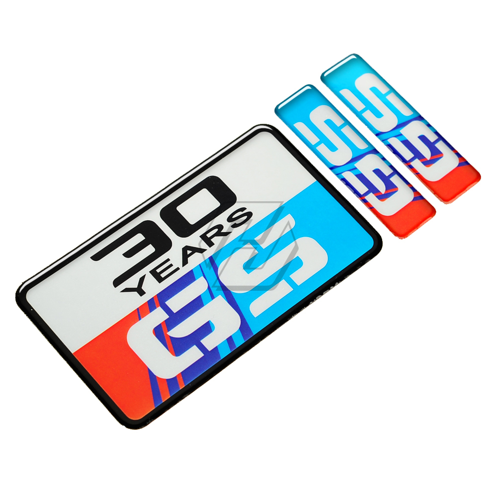 2 Adesivi Stickers BMW GS R 1200 30 Years Anniversary LC 2