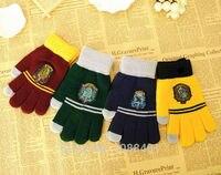 харри поттер сенсорный перчатки шляпа наушники кепки гриффиндор/слизерин/хаффлпафф/Равенкло перчатки шляпа подарок на день детей