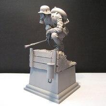 Kit sem pintura 1/16 120mm guerreiro biológico com base figura histórica resina kit frete grátis
