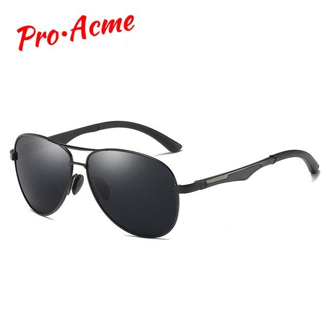 7a54e3707ed4dc Pro Acme Aluminium Magnesium Zonnebril Mannen Gepolariseerde Pilot  Zonnebril Rijden Eyewear Goggle Mannelijke Outdoor Bril UV400