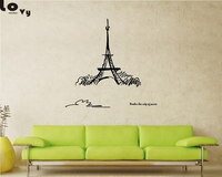 Removable Landmark Paris Tower Vinyl Wall Sticker For Bedroom Living Room Background Art Wall Decal Home