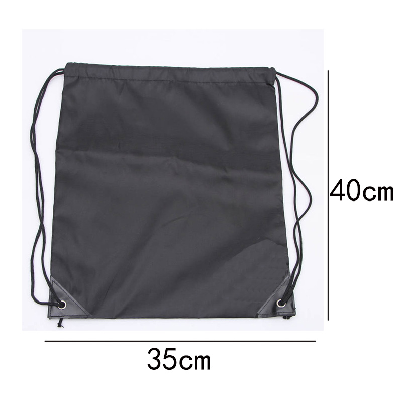 Купить с кэшбэком Fashion 210D Nylon Drawstring Bags Solid Color Portable Sports Bag Outdoor Backpack Gym Drawstring Shoes Bag Clothes Backpacks
