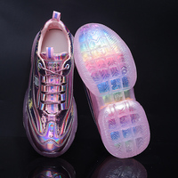 Spring New Chunky Sneakers Harajuku Casual Dad Shoes Platform Sneakers Transparent Jelly Shoes Rainbow Sole Bling Sneakers