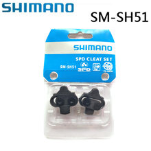 Shimano SPD SM-SH51 SM-SH56 Cleat Pasangan Tunggal Release/Multi-Release Pedal Cleat W/Cleat Nut Piring Float MTB Sh51 Sh56 Panas(China)