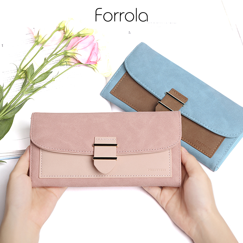 Fashion Ladies Leather Purse Long Wallet Famale Clutch Coin Purses Women Card Holders Phone Pocket For Girls Carteira Feminina famous brands oil wax leather clutch bag women long wallets ladies coin purse wallet female card phone holders carteira feminina