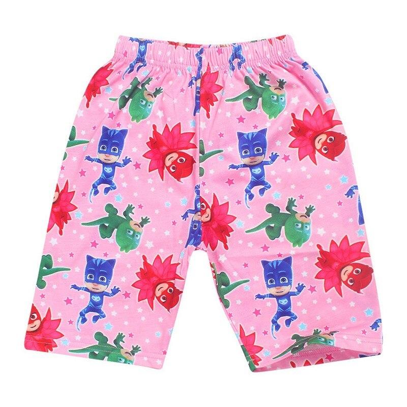 Летние Пижамы для маленьких мальчиков Шорты футболка + штаны комплекты для девочек детей Костюмы Детский комплект одежды для сна Owlette летня...