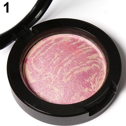 Wholesale Price Women 6 Colors Cheek Baked Blush Powder Makeup Cosmetic Bronzer Blusher Palette