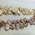 Ventas al por mayor de tamaño más grande collar de perlas keshi pétalo único forma Brillante de buena calidad natural de agua dulce collar de la declaración para las mujeres