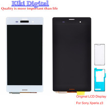 Origianl Quality LCD Display Touch Screen Digitizer for SONY Xperia Z3 L55t L55u D6603 D6643 D6653 wiht Adhesive and Gift