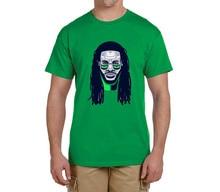 Marshawn Lynch face 24 100% cotton t shirts short sleeve Mens o-neck fashion T-shirts fans gift 0216-15