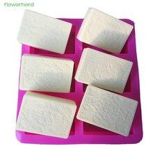 6 полостей, силиконовая форма для мыла, сделай сам, свадебный подарок ручной работы, кружевная форма для мыла, прямоугольная овальная форма для украшения торта, инструменты для изготовления мыла