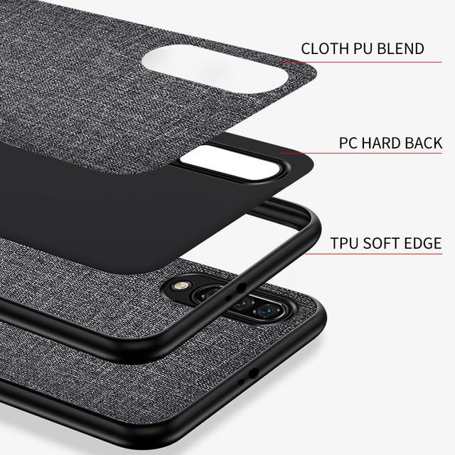 Pokrowiec na Xiaomi Mi 9T 9 SE A3 A2 Lite A1 Mix 3 2s uwaga 10 Pro Slim tkanina skóra tylna pokrywa dla Redmi Note 9s 8T 8 7 6 5 Pro 7A 6A