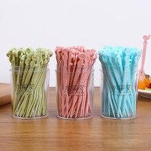 50 Pieces/lot Fruit Fork Set Creative Disposable Cake Forks Small Tea Dessert for Snack Dinnerware