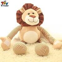 45 cm/90 cm Sevimli peluş aslan streç bacaklar ve ayaklar oyuncaklar dolması hayvan doll bebek çocuk erkek doğum günü noel hediyesi Triver