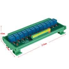 12 ช่องแรงดันไฟฟ้าทริกเกอร์รีเลย์โมดูล PLC รีเลย์โมดูล optocoupler โมดูลรีเลย์ DIN rail. PLC ควบคุม