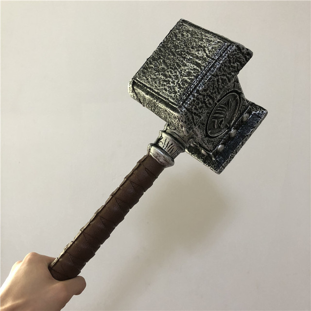 WOW  1:1 Warcraft Hammer 54cm Destroy Hammer Weapon Game Role Cosplay Safety PU Material Figure Model  Kids Gift 3