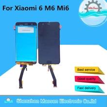"M & Sen Para 5.15 ""Xiaomi 6 M6 Mi6 con huella digital pantalla LCD + Touch panel digitalizador Blanco/azul/Negro Envío gratis"